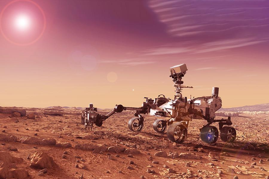 Des traces d'eau et de vie sur Mars ?